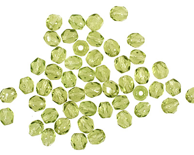 Czech Fire Polished Glass Olivine Round 3mm