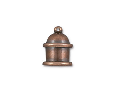 TierraCast Antique Copper (plated) Pagoda 8mm Cord End 15.5x12mm