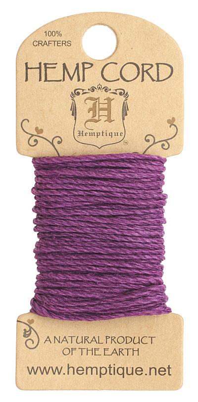 Dark Purple Hemp Twine 20 lb, 20 ft