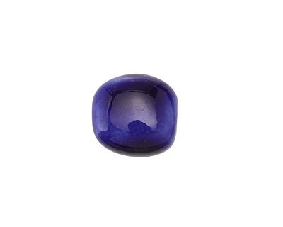 Gaea Ceramic Indigo Pebble Bead 13-15x11-13mm