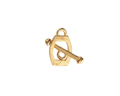 Saki Bronze Flat End Oval Toggle Clasp 15x9mm, 17mm