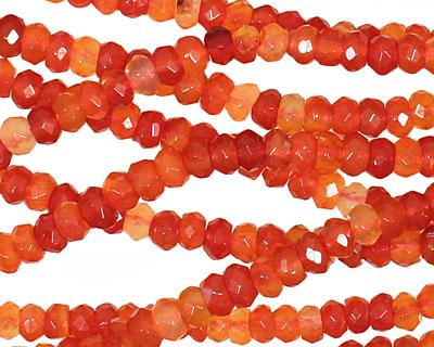 Carnelian (natural-orange) Faceted Rondelle 4-4.5mm