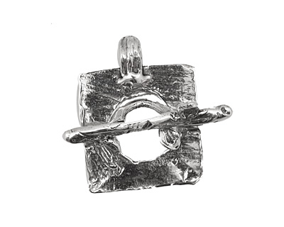 Rustic Charms Sterling Silver Tree Toggle 24x19mm, 27mm bar