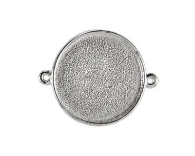 Nunn Design Sterling Silver (plated) Grande Circle Bezel Link 42x34mm