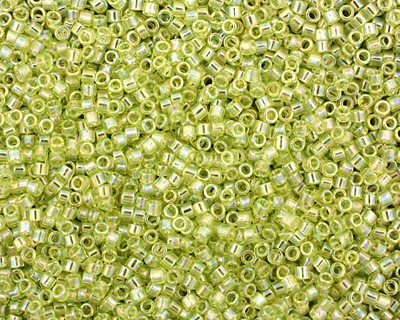 TOHO Transparent Rainbow Lime Green Treasure #1 Seed Bead