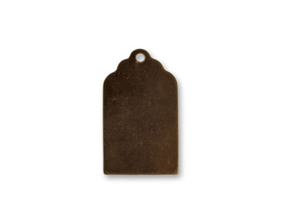 Vintaj Natural Brass Luggage Tag Altered Blank 13x21mm