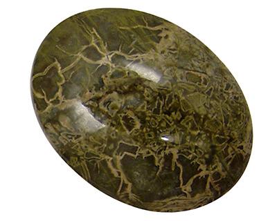 African Green Jasper Oval Cabochon 30x40mm