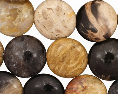 Palm Jasper Puff Coin 14mm