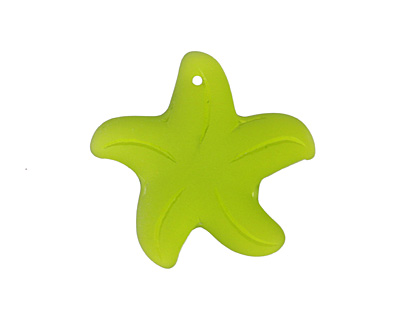 Olive Recycled Glass Starfish 32mm