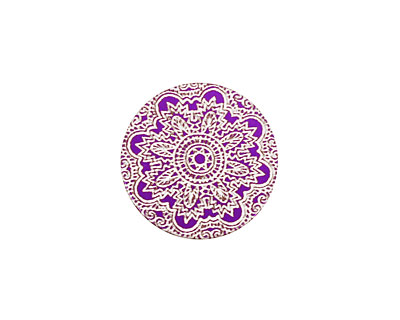 Lillypilly Purple Lace Anodized Aluminum Disc 19mm, 24 gauge