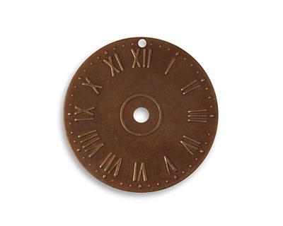 Vintaj Natural Brass Clock Face 25.5mm