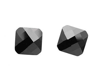 Onyx Faceted Diamond 15mm