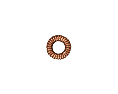 TierraCast Antique Copper (plated) Large Coiled Ring 2x10mm