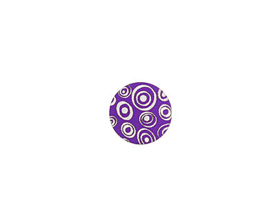 Lillypilly Purple Groovy Circles Anodized Aluminum Disc 11mm, 24 gauge