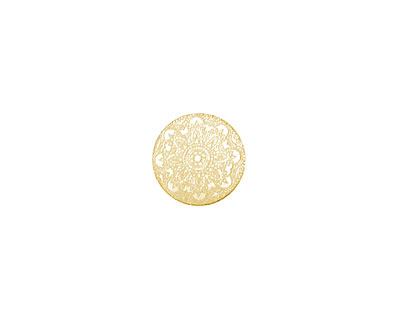 Lillypilly Gold Lace Anodized Aluminum Disc 11mm, 22 gauge