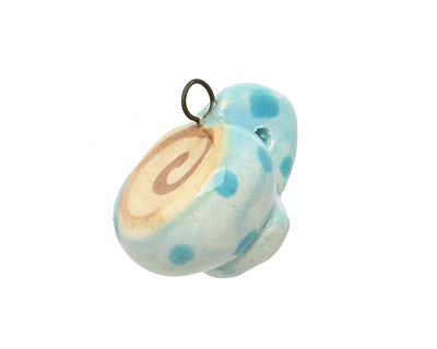 Jangles Ceramic Blue Coffee Cup Charm 17-18x15-17mm