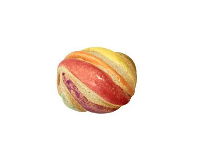 Gaea Ceramic Rainbow Wave 17-19x15-17mm