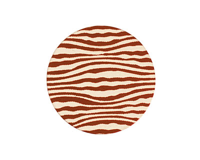 Lillypilly Bronze Zebra Anodized Aluminum Disc 25mm, 24 gauge