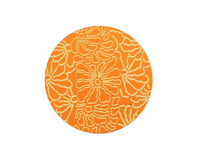 Lillypilly Orange Weathered Daisy Anodized Aluminum Disc 25mm, 24 gauge