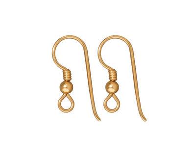 TierraCast Gold Filled Earwire w/ 3mm Bead & Coil