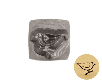 Bird Metal Stamp 6mm