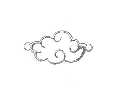 Amoracast Sterling Silver Large Cloud Focal Link 25x13mm