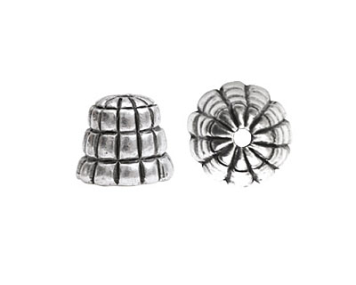 Nunn Design Antique Silver (plated) Sea Hive Bead Cap 10x12mm