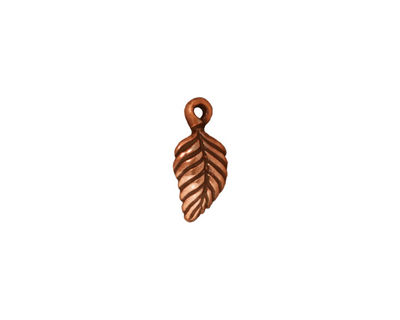 TierraCast Antique Copper (plated) Birch Leaf Charm 7x15mm