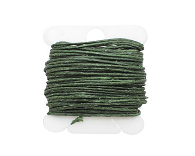 Dark Emerald Irish Waxed Linen 7 ply