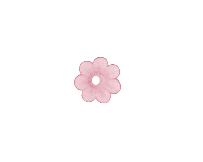 Matte Rose Lucite Daisy 3x10mm