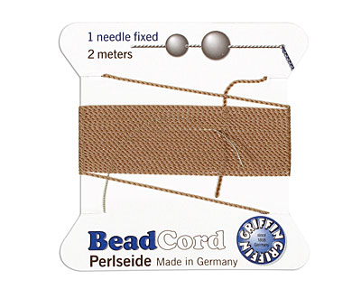 Beige Griffin Nylon Beading Cord Size 4, 2 meters