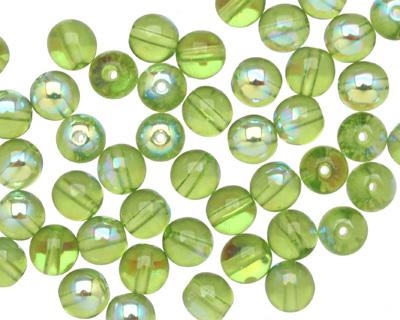 Czech Glass Olivine AB Round 6mm