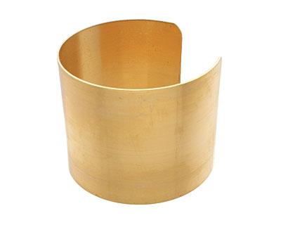 Brass Smooth Round Wide Cuff 61x51mm