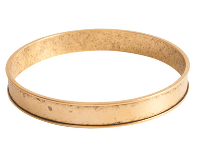 Nunn Design Antique Gold (plated) Channel Bangle Bracelet 70mm
