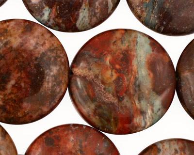 African Rainbow Agate Puff Coin 25mm