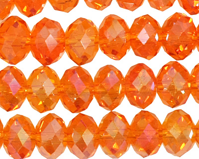 Poppy AB Crystal Faceted Rondelle 8mm