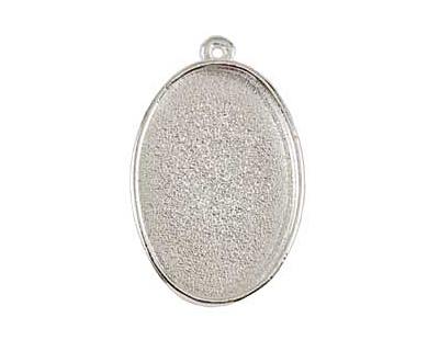 Nunn Design Sterling Silver (plated) Grande Oval Bezel Pendant 44x28mm