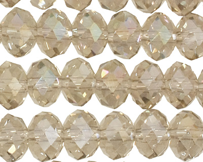 Sand AB Crystal Faceted Rondelle 8mm