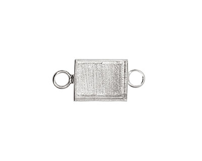 Silver (plated) Rectangle Bezel Link 21x16mm