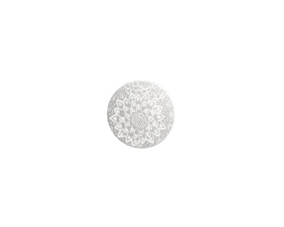 Lillypilly Silver Dahlia Anodized Aluminum Disc 11mm, 22 gauge