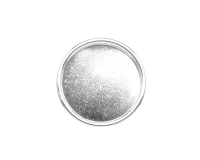 Nunn Design Sterling Silver (plated) Large Circle Frame Button 21mm