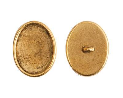 Nunn Design Antique Gold (plated) Large Oval Frame Button 16x20mm