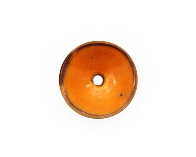 C-Koop Enameled Metal Mandarin on White Disc 3-4x18-20mm