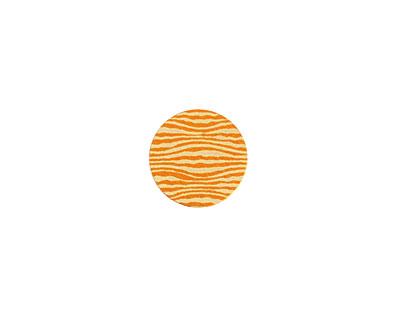 Lillypilly Orange Zebra Anodized Aluminum Disc 11mm, 24 gauge