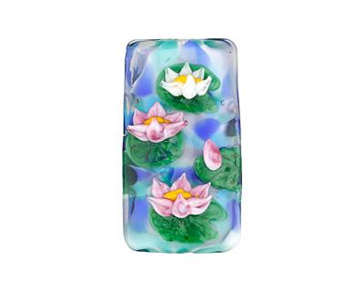 Grace Lampwork Water Lilies Kalera 20-21x38-39mm