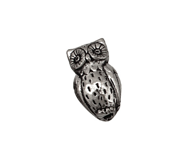 Green Girl Pewter Horned Owl 19x11mm
