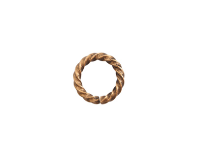 Nunn Design Antique Gold (plated) Large Rope Jump Ring 12mm