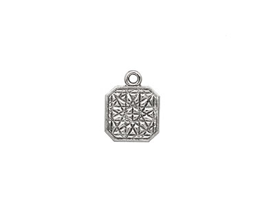 Stampt Antique Pewter (plated) Square Tag 10x12mm
