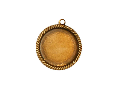 Stampt Antique Brass Herringbone Round Setting 15mm