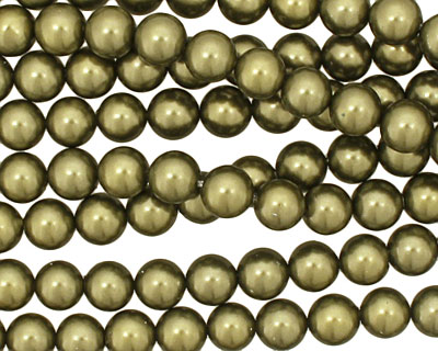 Olive Shell Pearl Round 6mm